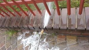 mycie płotu i ogrodzenia klinkier