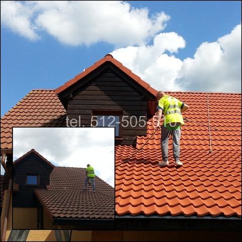 czyszczenie dachówki betonowej
