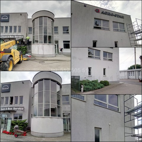 Mycie elewacji budynku w Kaliszu