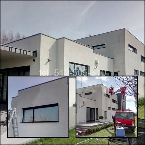 Mycie ścian domu w Warszawie