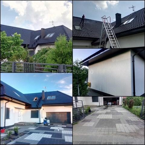 Mycie budynku - dach i elewacja