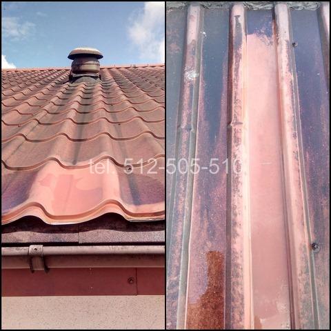 usuwanie sadzy z dachu