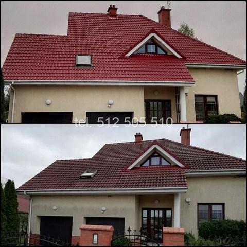 Pruszków - mycie dachu