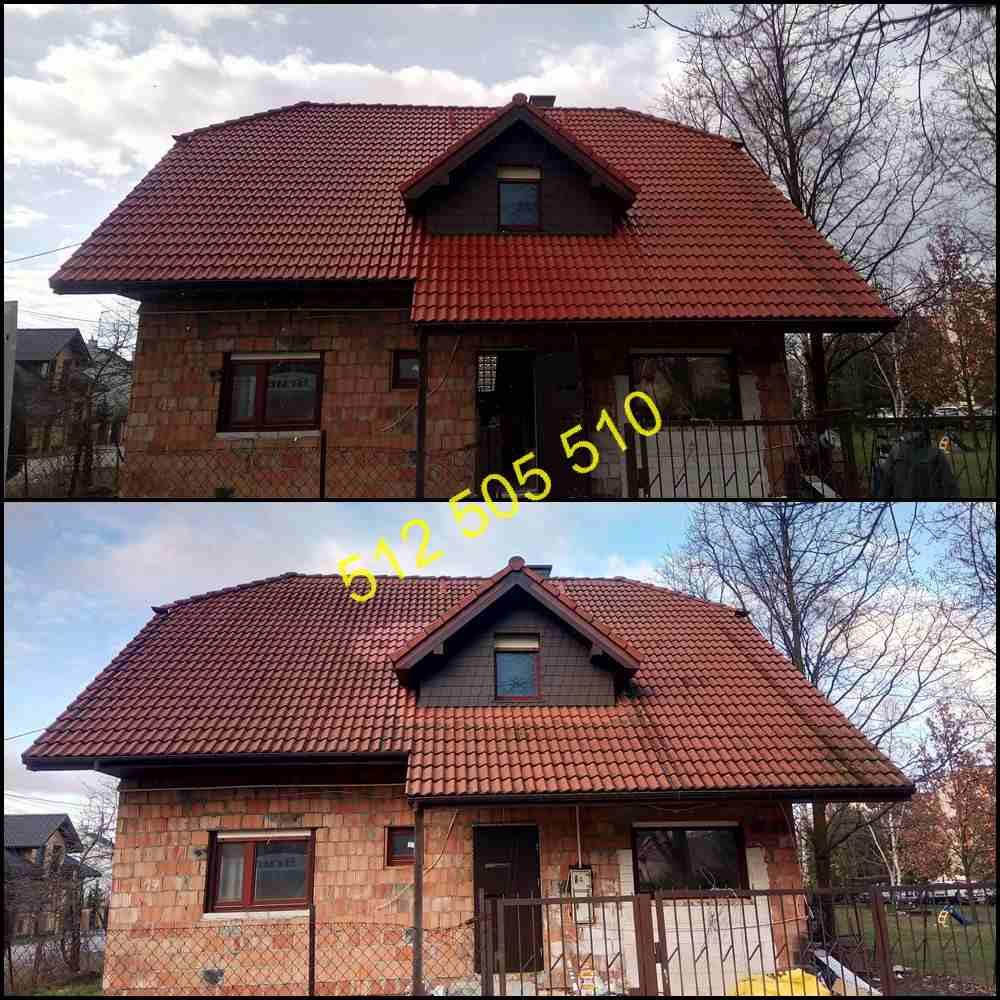 Mycie dachu w Łodzi