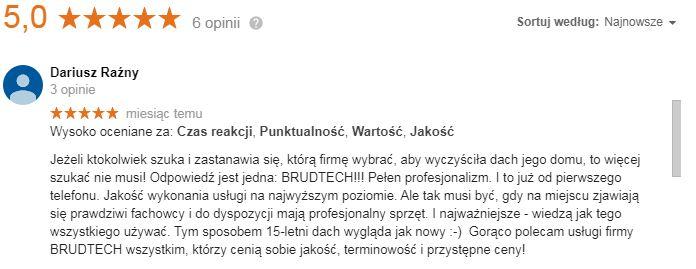 opinie gorzów wielkopolski firma mycie dachów
