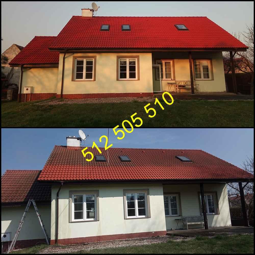 Czyszczenie dachówki cementowej