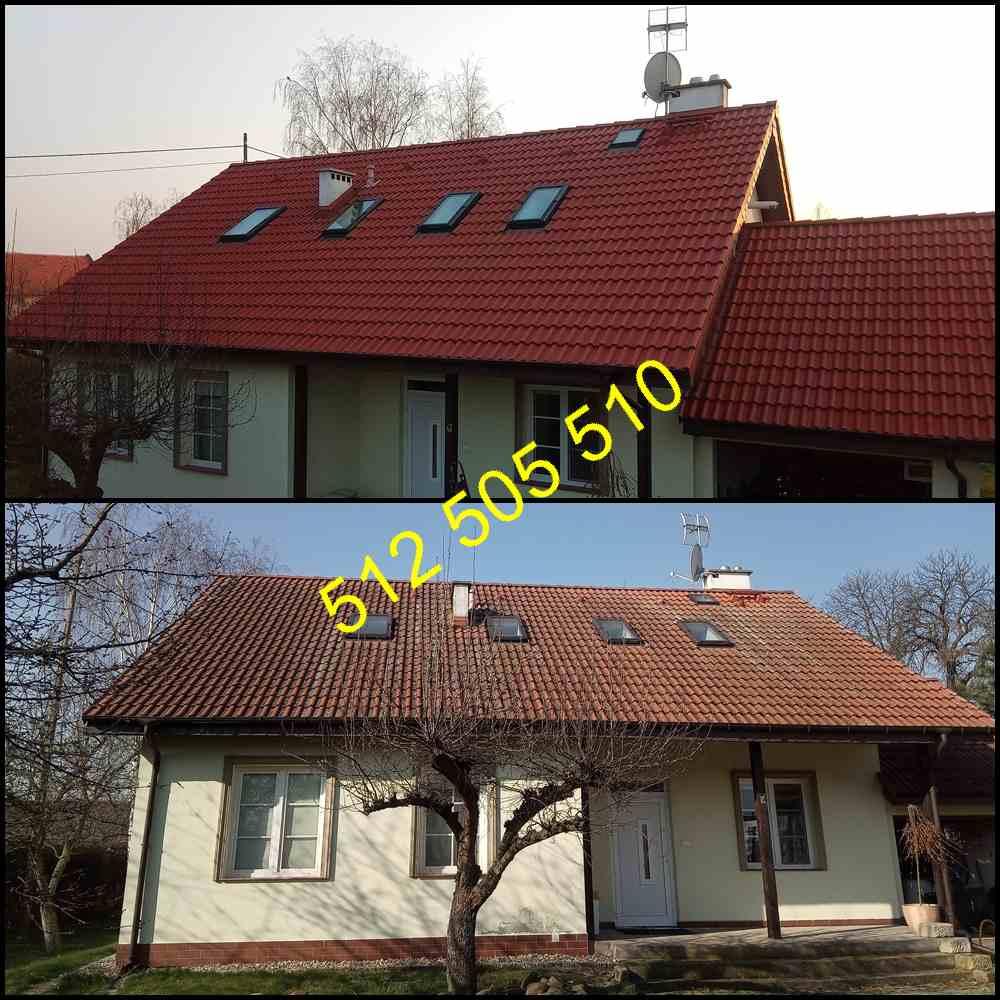 Czyszczenie dachówki wielkopolska