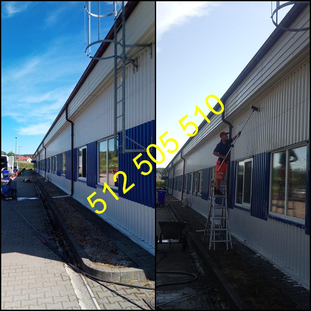 Mycie budynku w Kielcach